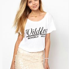 Casual t shirts round neck loose printing women tops HY-132133946