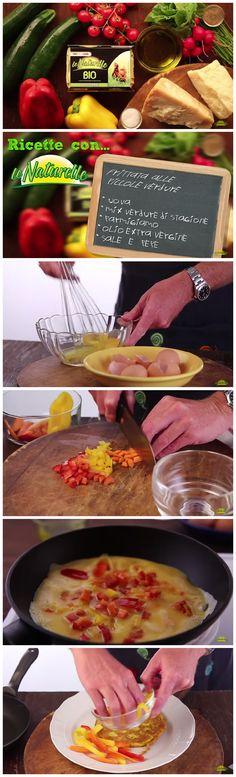 #Pranzo o #cena pronto in meno di 30 secondi con la gustosa ricetta di #frittata di #verdure di stagione!