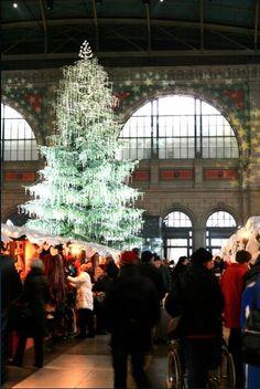 Swarovski Christmas tree at Christmas Market, Zurich, Switzerland