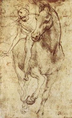 - Leonardo da Vinci, Study of Horse and Rider, c. 1481 | Flickr