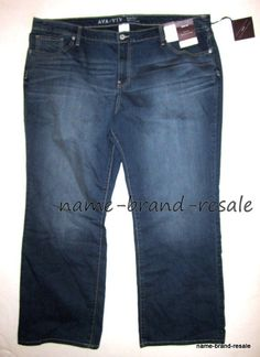 1a7af1b4e09568 AVA amp VIV NWT Womens PLUS Size 26W 26 4X Denim Faded Wash BOOTCUT Jeans  NEW