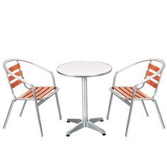 paris flip top metal bistro set with aluminium chairs for sale