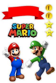 Oh My Fiesta! for Geeks Super Mario Bros, Super Mario Party, Super Mario Brothers, Mario Bros Cake, Super Mario Birthday, Mario Birthday Party, Bolo Do Mario, Bolo Super Mario, Spiderman Chibi