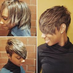 STYLIST FEATURE  gorgeous #pixiecut✂️ #transformation done by #AtlantaStylist @hairbiz1❤️ Hot #VoiceOfHair ========================= Go to VoiceOfHair.com ========================= Find hairstyles and hair tips! =========================
