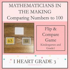 Mathematicians in the Making: Comparing Numbers to 100 This activity is a perfect way to introduce, Creative Teaching, Teaching Math, Math Math, Math Fractions, Math Games, Special Education Classroom, Math Education, Elementary Education, Third Grade Math