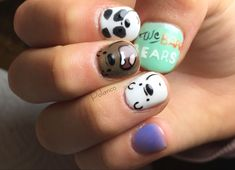 We bare bears nails Freedom Drawing, Just Girly Things, We Bare Bears, Cute Nail Designs, Cool Nail Art, Nail Arts, Cute Nails, Hair And Nails, Manicure