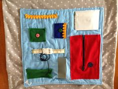 A fidget ( or sensory) blanket for a friend with dementia.