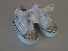 38a984478e2ce2 Custom baby converse with Swarovski crystal embellishment .. Simply  gorgeous .. Find us on Facebook .. Made in Ireland .