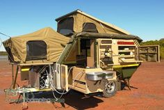 South African built- the Conqueror UEV 490, which with military looks and background, is a great trailer camper, though very pricey.