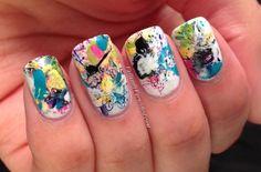 Valiantly Varnished: Artsy Wednesday- Splatter Graffiti Nails