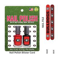 University Of Georgia Nail Polish Team Colors with Nail Decals & Nail File -Fast and free shipping in the USA