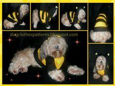 dog bee costume pattern