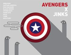 "Check out new work on my @Behance portfolio: ""AVENGERS x JINKS"" http://be.net/gallery/33020647/AVENGERS-x-JINKS"