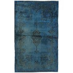 Vintage over Dyed Overdyed Kirman Rug   From a unique collection of antique and modern persian rugs at https://www.1stdibs.com/furniture/rugs-carpets/persian-rugs/