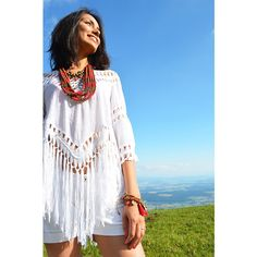 Selva white Bohemian Style, Cover Up, Outfits, Shopping, Tops, Dresses, Fashion, Bohemian Fashion, Textiles