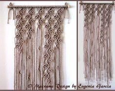 Colgante de pared de macrame - ramitas de #5 - decoración hogar de Macrame hecho a mano/Macrame pared arte cuerda cuerda tejido trenzado de cuerda arte por Evgenia Garcia