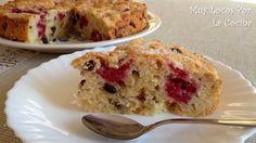 Twittear     Este pastel de sabor afrutado se puede comer para merendar acompañado de un café o un té. También se puede to...