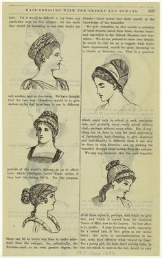 Hair-dressing with the Greeks and Romans