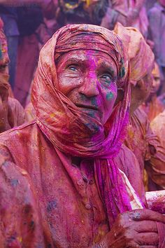 Holi Festival, India by Barsana-Nandgaon Holi, via Flickr