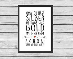 Typo für Oma und Opas / art print for granny and grandpa by Kitsch'n Story via DaWanda.com