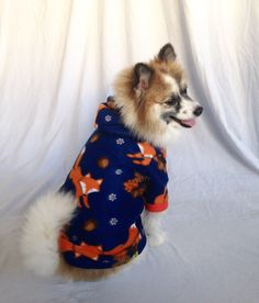 87db48e1f98 Dog Hoodie, Pet Hoodie, Dog Sweater, Foxes, Fall Sweater by  LizzyAndMeekoShop on Etsy