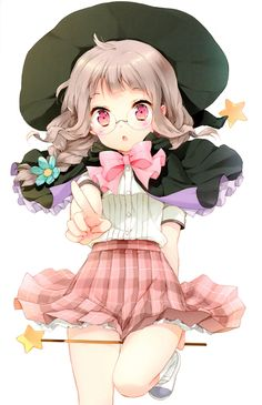 Cute anime witch