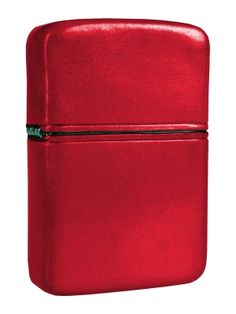 Zippo lighter in Red leather sheath available from Zippo Italy!