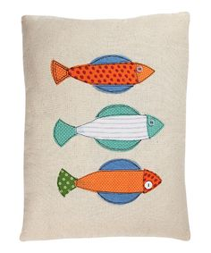 Look what I found on #zulily! Orange & Blue Fish Throw Pillow by Collins #zulilyfinds