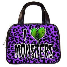 I Love Monsters Handbag Preorder Deposit by LttleShopOfHorrors, $10.00