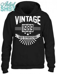ecf83501 Vintage 1989 - Birthday - Aged To Perfection Unisex Hoodie