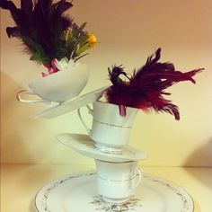 DIY centerpieces for an Alice in Wonderland themed wedding
