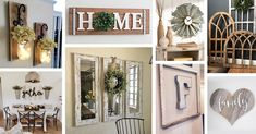 Living room wall decor ideas charming farmhouse wall decor ideas to add some rustic flair to Farmhouse Bedroom Decor, Rustic Farmhouse Decor, Rustic Wall Decor, Rustic Walls, Room Wall Decor, Diy Wall Decor, Living Room Decor, Home Decor, Wall Decorations