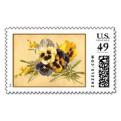 "Vintage ""From My Garden"" Postal Stamp"