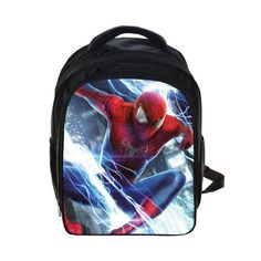 0a485f8268 Spiderman Backpack Teenage Boys Batman School Bag Spiderman Printing Backpacks  Bag Kid Gift Bookbag
