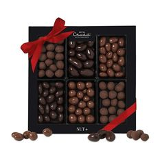 Chocolate Covered Nuts for Christmas from Hotel Chocolat (1,235 DOP) ❤ liked on Polyvore featuring food, comida, fillers, food and drink and gift