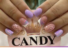 Nail Polish Designs, Short Nails, Nail Art, Candy, Beauty, Short Nail Manicure, Nail Manicure, Short Square Nails, Slim Down Thighs
