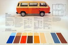 This is the next dream van. Ivory and bright orange, Obviously a camper, all with a custom interior with inspiration drawn from the pictures in this board