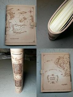 Leather journal / handmade bookbinding / pyrography / the middle earth / the hobbit / lord of the ring / book art / by Ardeas / craft / http://www.ardeas.sk/