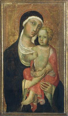 Milano Pinacoteca di Brera - Madonna con il Bambino - Paolo di Giovanni Fei