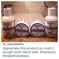 @m_cancelliere Welcome Maestro! Thanks for being undeniably good at crafting a better you with Maestro's Classic Spirited and Mark of a Man blend set. We appreciate you Maestro Salute
