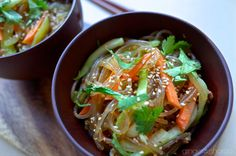 kleinstyle | Food Friday : Korean Glass Noodles (Jap Chae) | http://kleinstyle.com