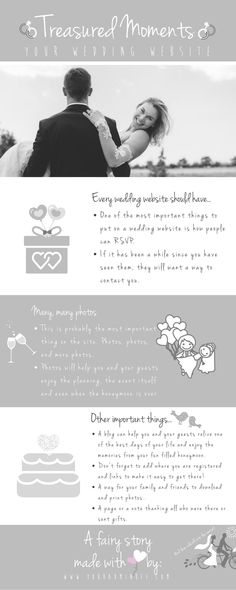 What to add to your wedding website...