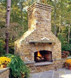 Outdoor Fireplace - maybe at the house we move into during retirement ;)