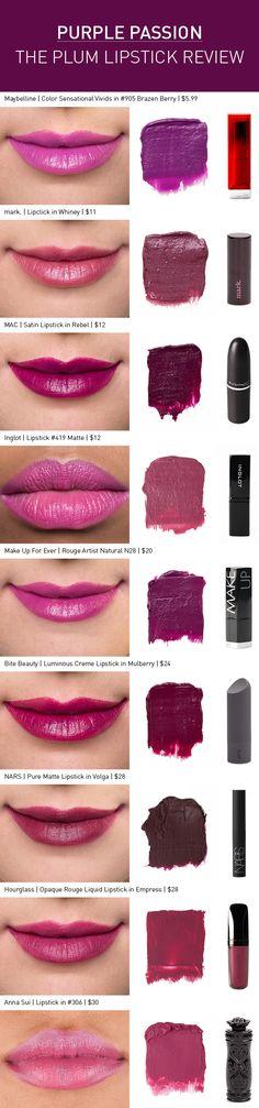Purple lipstick reviews