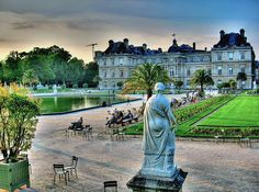 Paris - Luxembourg Gardens, beautiful garden