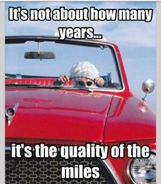It's not about how many years...it's the quality of the miles