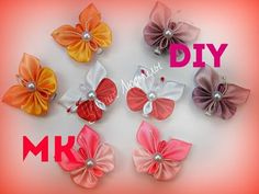 Бабочка канзаши мастер класс  Butterfly kanzashi master class | kanzashi | Postila