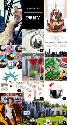 Veja ideias para festa de 15 anos com o tema Nova York.