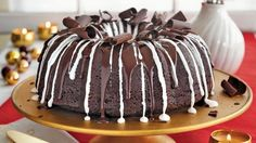 This intensely decadent, triple chocolate Bundt cake is the perfect dessert to place on a dinner table and enjoy with family and friends.