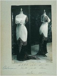Earliest surviving dress of Queen Maud's purchases from Worth
